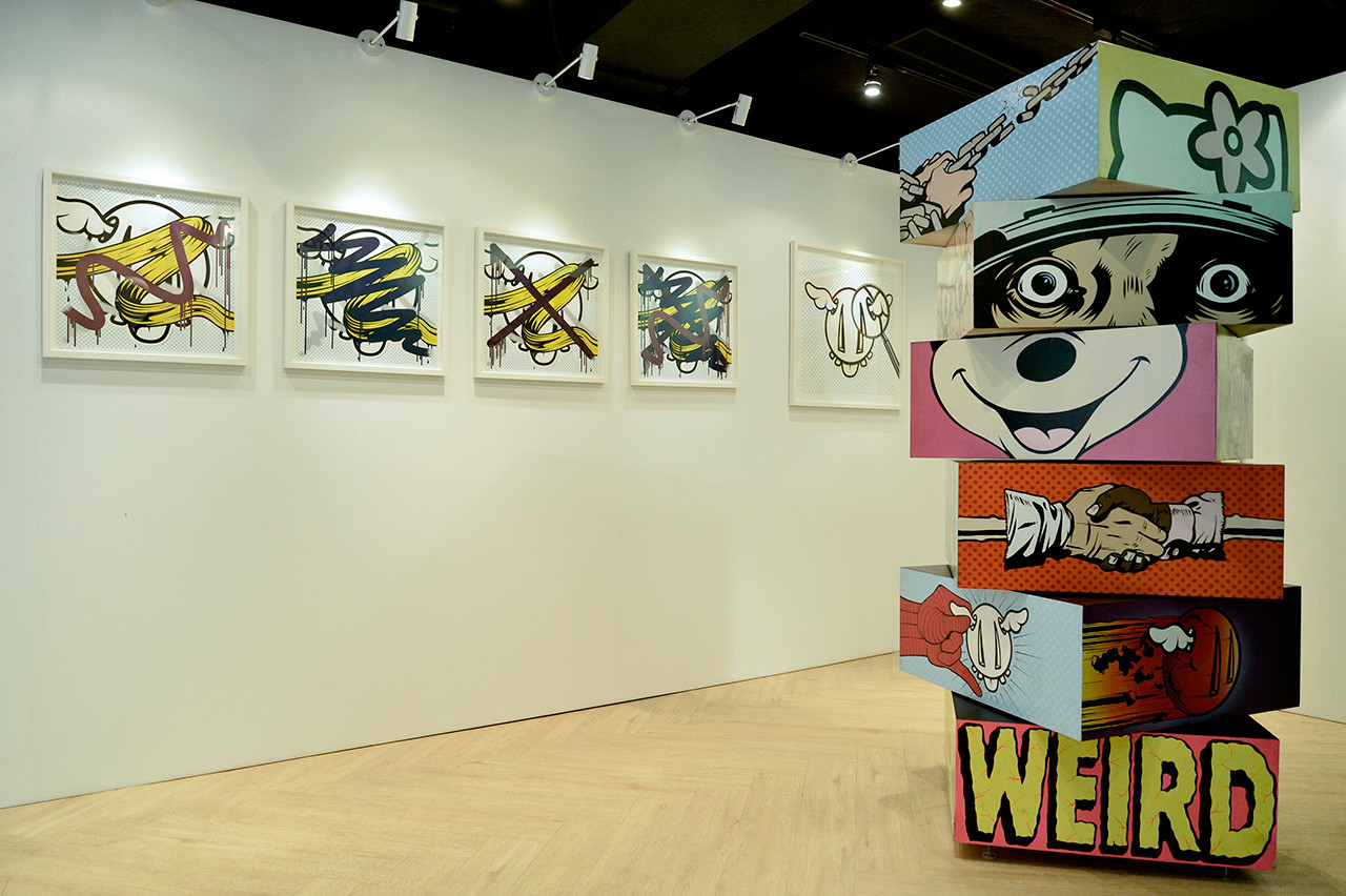 D Art Exhibition Hong Kong : Evisu d face partner for d face s solo exhibition in asia