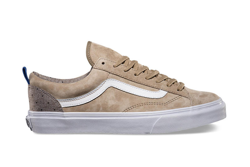 """6a906f7ed60399 Vans and its California line presents the """"Polka Suiting"""" pack for its  low-top Style 36 silhouette."""