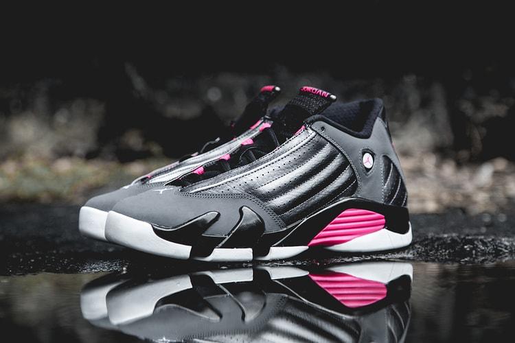 super popular 10e0f 9ecd0 Air Jordan 14 Retro Dark GreyHyper Pink