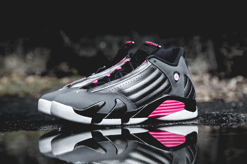 e97eae3bd85b81 Air Jordan 14 Retro Dark Grey Hyper Pink