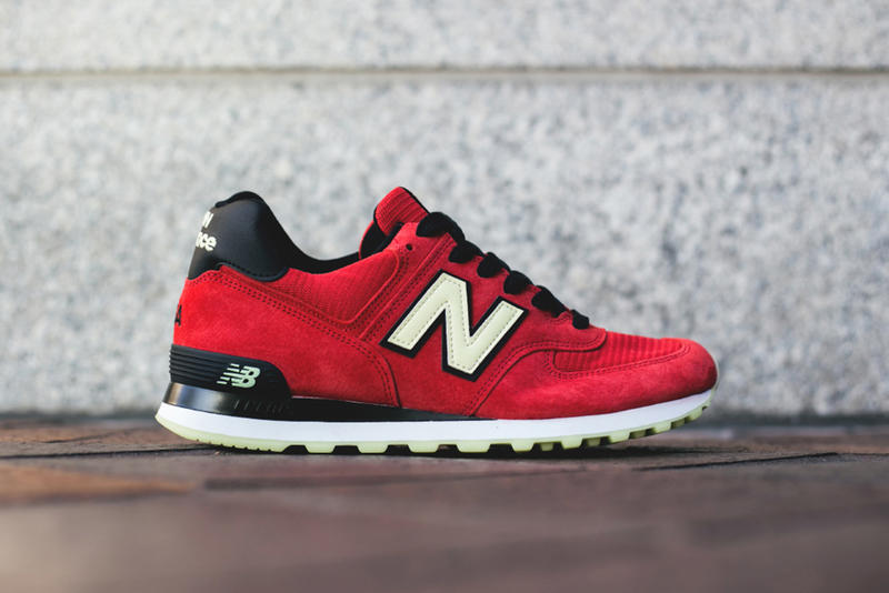 a722eaf174b New Balance presents its Made in USA M574 silhouette in an eye-catching  combination of red
