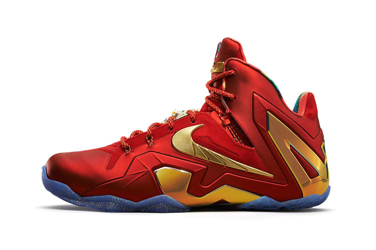 6b3b131e9c6a Nike LeBron 11 Elite SE University Red Metallic Gold