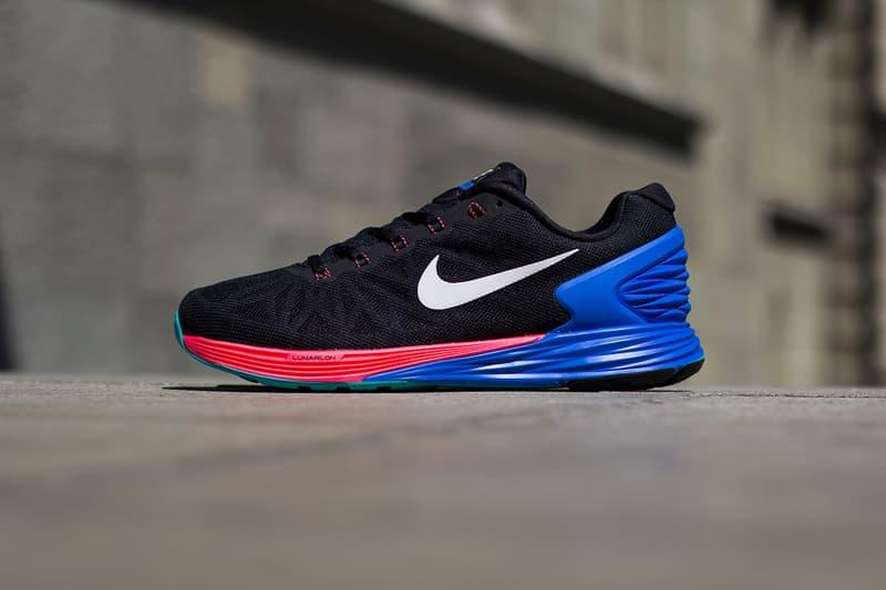 quality design 30522 4f8fd Nike LunarGlide 6 Black White-Hyper Cobalt-Hyper Punch