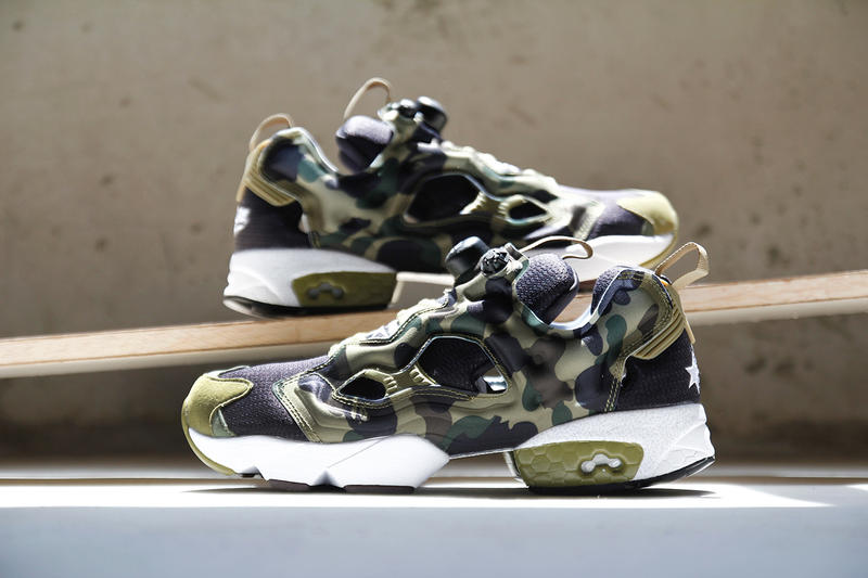 "62639490cdd A Closer Look at A Bathing Ape x mita sneakers x Reebok Instapump Fury OG  ""Camo"""