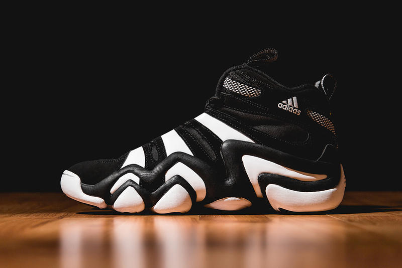 81e42f327423 The adidas Crazy 8 is now back in its original black white colorway. Kobe  Bryant s first signature
