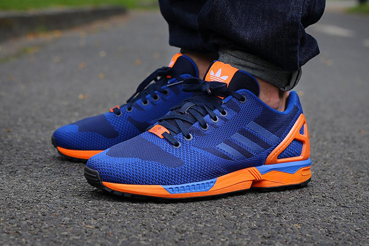 best authentic 7f57c e5a8c adidas Originals ZX Flux Weave Blue/Orange | HYPEBEAST
