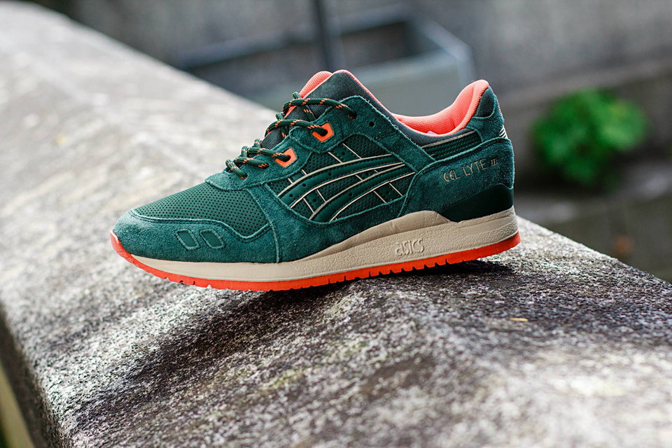 sneakers for cheap 91996 065cf ASICS Gel Lyte III Dark Green/Orange | HYPEBEAST