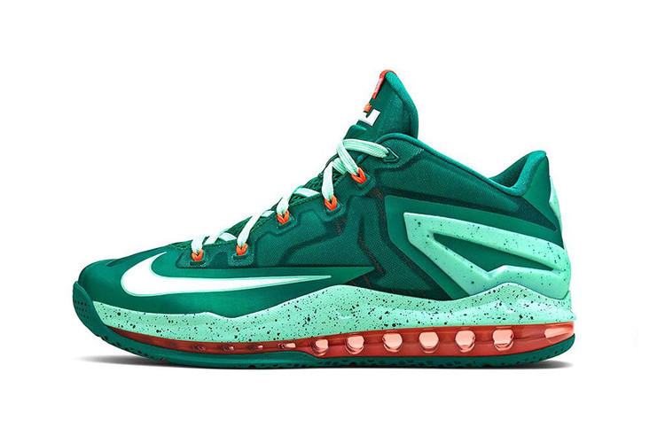 """low priced 521fa d05bf Nike LeBron 11 Max Low """"Mystic Green"""""""