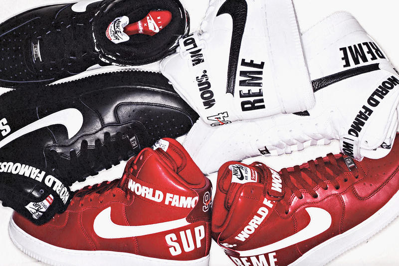 online store fa2f2 5b088 A First Look at the Supreme x Nike Air Force 1 High Collection