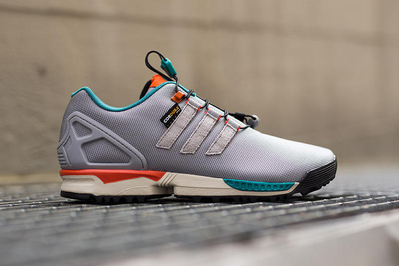 d9b99bdfb6122 adidas Originals ZX Flux Winter Grey Turquoise. adidas Originals prepare  for the winter by unveiling a sleet- and snow-ready version of its