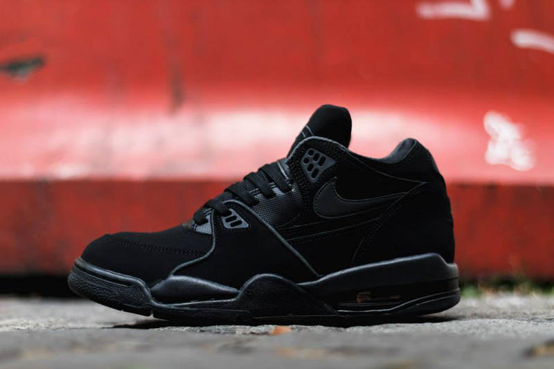 "best value 5f21e cfee2 The latest to receive the ""Triple Black"" treatment comes way of the Nike  Air Flight '89. Sporting a"