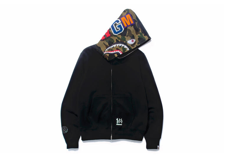 d2df1d84e6c2 A Bathing Ape SHARK HOODIE 10th Anniversary Collection