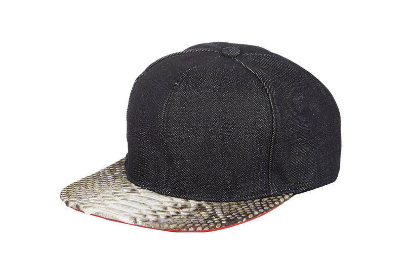 Just Don 2014 Fall Winter Leather   Python Snapback Collection ... d71cef29794