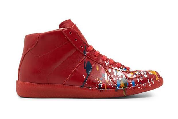 Maison Martin Margiela Red Pollock Mid-Top Replica Sneaker  b5b4116d8