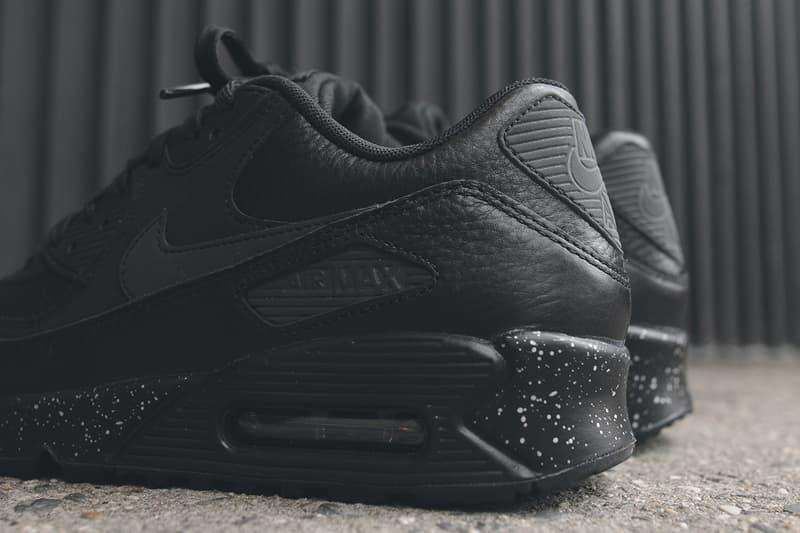 c3089cee7f Nike Air Max 90 Premium Black Metallic Silver