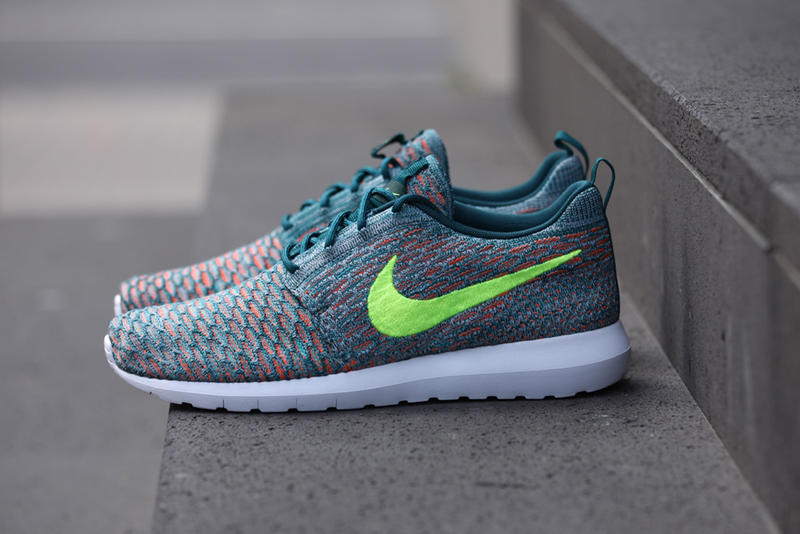 "cheap for discount 5a71f c811d Nike Flyknit Roshe Run ""Mineral Teal"""