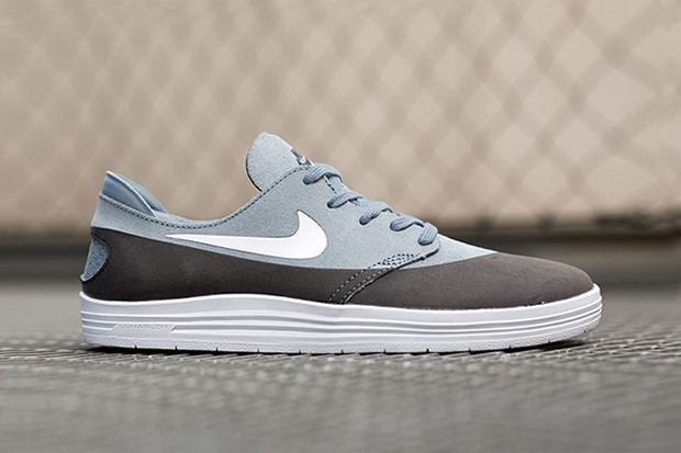 on sale c5e42 45254 Nike SB Lunar One Shot Black Grey Suede