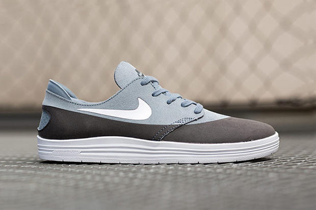 sports shoes 5fab2 24feb ... Black Grey Suede. Nike SB has unveiled the latest colorway of its sleek  and highly functional Lunar One Shot