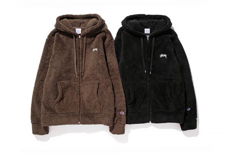 2453c1a4f8c2c ... 2014 Fall Winter Fleece Collection. Stussy and North Carolina-based  Champion s Japanese imprint supplement their collaborative