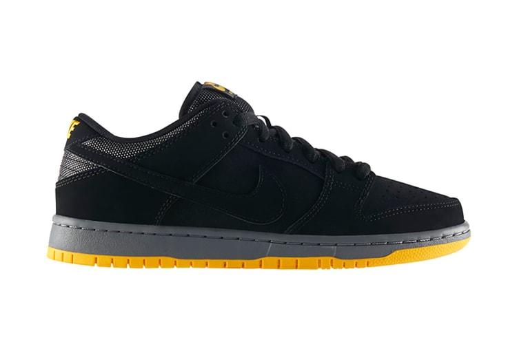 check out 0f72a f55e3 Nike SB Dunk Low Pro Black University Gold