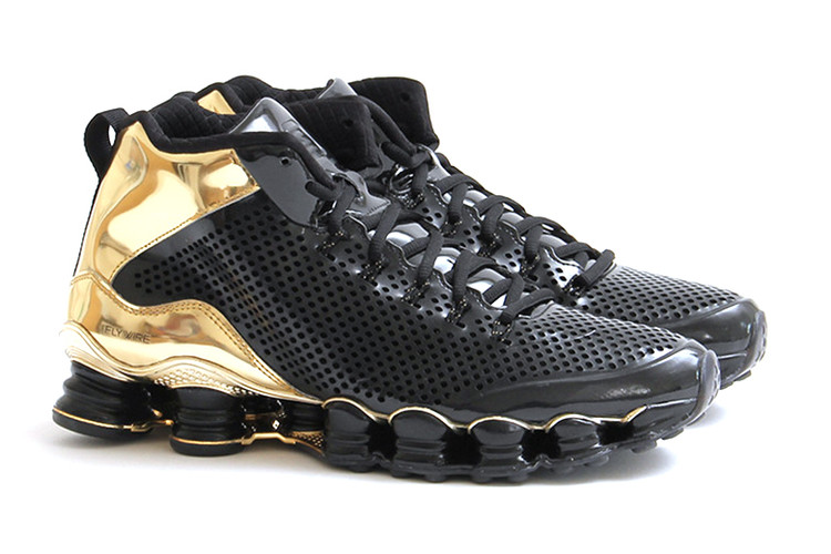 1b903d19d0ec Nike Shox TLX Mid SP Black Black-Metallic Gold. Footwear