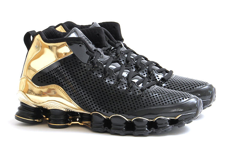 huge selection of 639b0 2c648 Nike Shox TLX Mid SP Black/Black-Metallic Gold. An often contentious  discussion amongst athletes and sneakerheads alike, the Nike Shox has  enjoyed