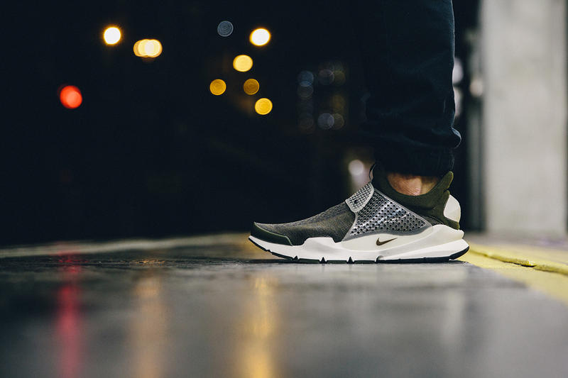 "A Closer Look at the fragment design x Nike Sock Dart ""Dark Loden"""