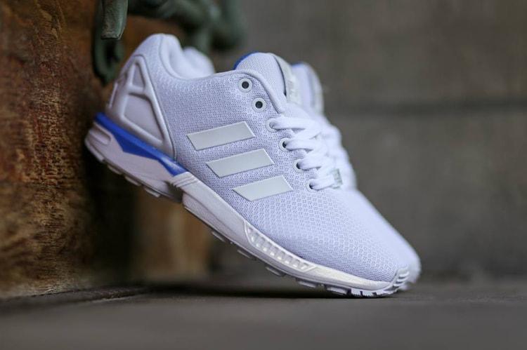 064642652 adidas Originals ZX Flux White White Bluebird