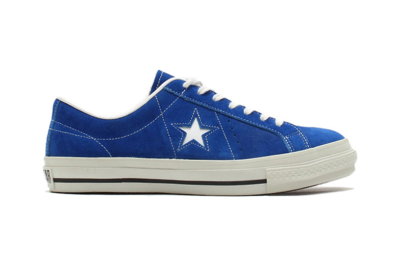 6308535ac64294 Converse Japan One Star J Suede Blue White