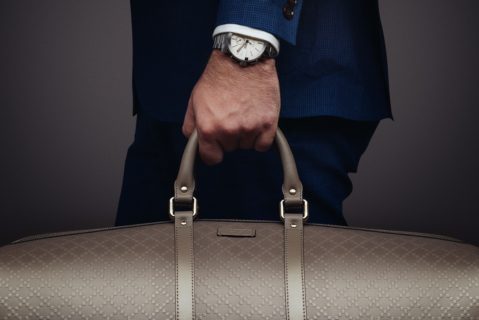 8a38a11ac3b Gucci Presents the G-Chrono Collection and Bright Diamante Leather Duffle