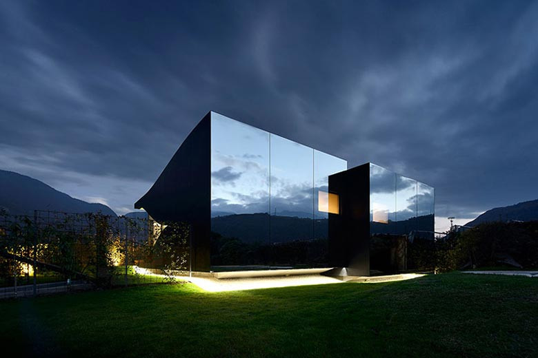 Watch the Mountains Reflect Off Peter Pichler's Northern Italian Houses