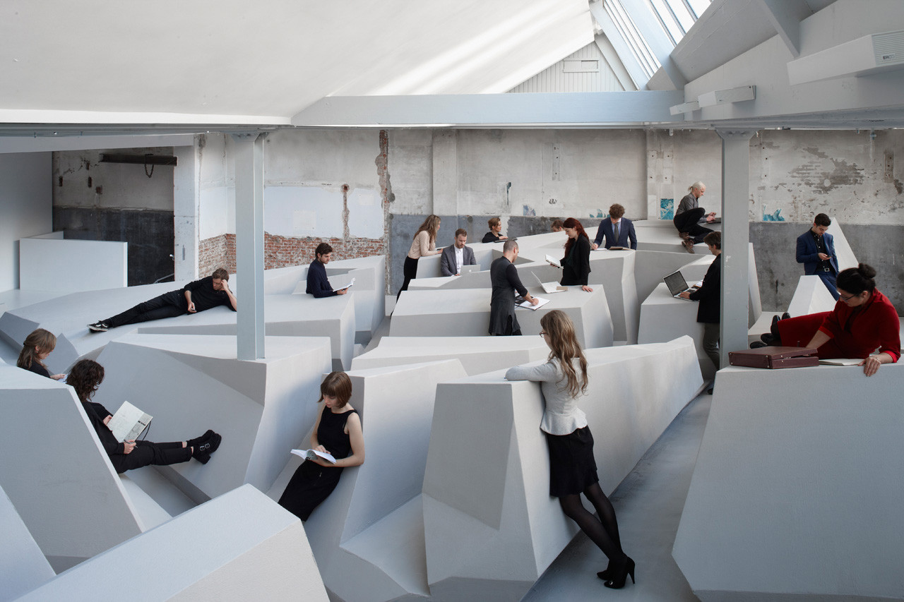 Futuristic Office Concept In Amsterdam Doesnu0027t Have Chairs Or Desks