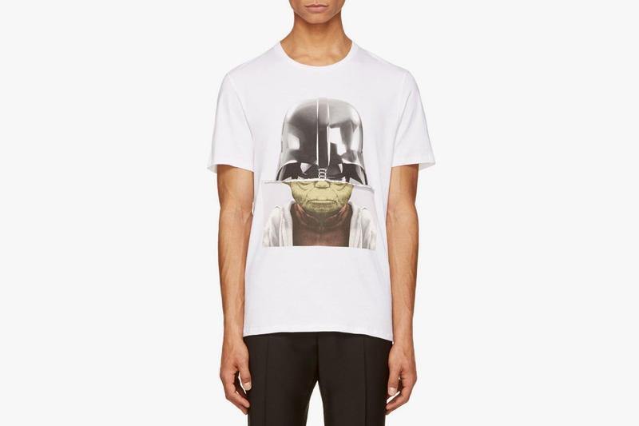 Neil Barrett White Darth Yoda T-Shirt