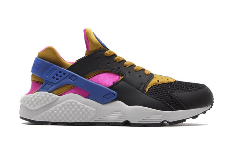 on sale 9fd91 bd9f8 ... Black Bronzing-Fuchsia Force-Game Royal. A brand new pair of Nike s Air  Huarache has been released. The sneaker sports a grey toe box region