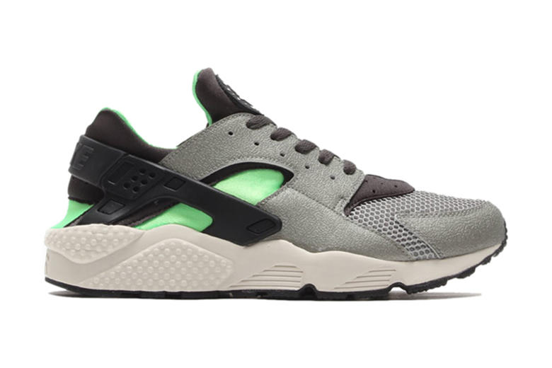 Nike Air Huarache Mine Grey/Midnight Fog-Poison Green-Black