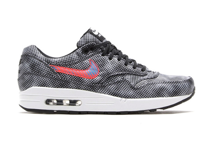 low priced d1c34 67e43 Nike Air Max 1 FB QS Black Bright Crimson-White-Blue Lagoon