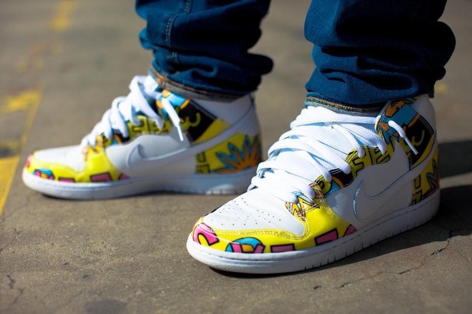 new styles b6248 1abf7 A Closer Look at the De La Soul x Nike SB Dunk High