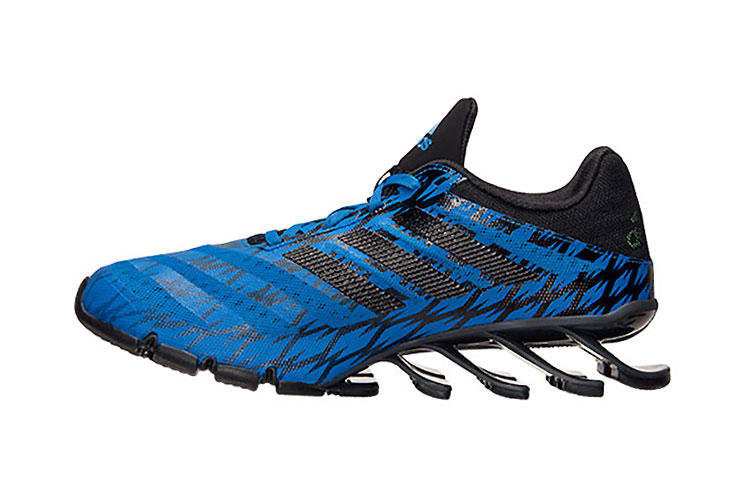 new style b3571 f6730 The latest colorways in adidas s popular Springblade silhouettes come in  Royal Blue and Solar Red