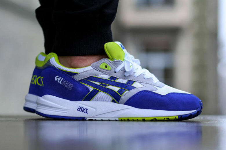 ASICS GEL Saga Royal White Neon. ASICS and its classic GEL line sees  another release for its Saga silhouette e5af5c69894d