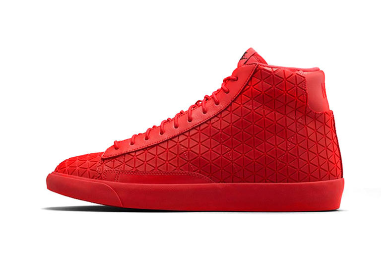 """hot sale online b4ae2 51aec Following the recent black and blue releases, Nike introduces the Blazer  Mid Metric """"University"""