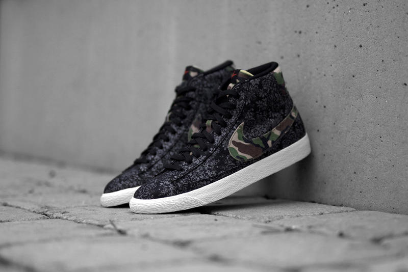 """391a8423b4aca Nike updates the Blazer Mid canon with a new colorway of the silhouette,  executing the dark """"Camo"""