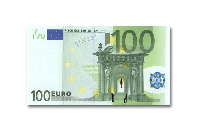 Stefanos Defaces Euro Banknotes As Art
