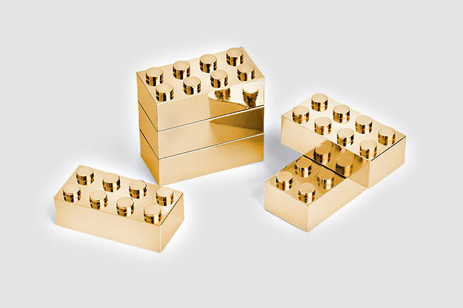 24K Gold-Plated Building Blocks