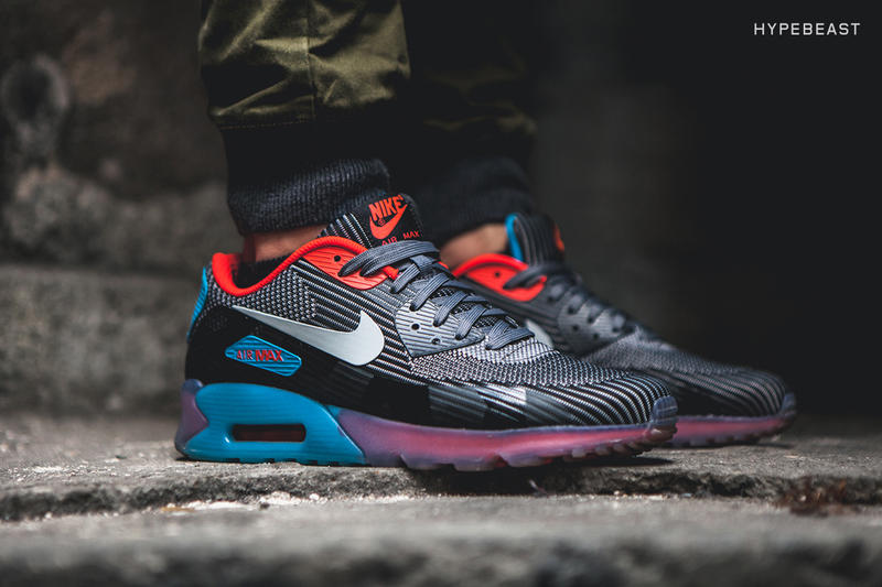 hot sale online cee86 a9fc8 A Closer Look at the Nike Air Max 90 Knit Jacquard ICE