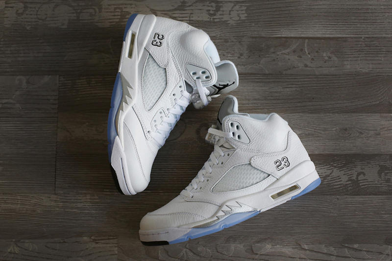 online retailer cefd6 aee12 A First Look at the Air Jordan 5 Retro White Metallic Silver-Black