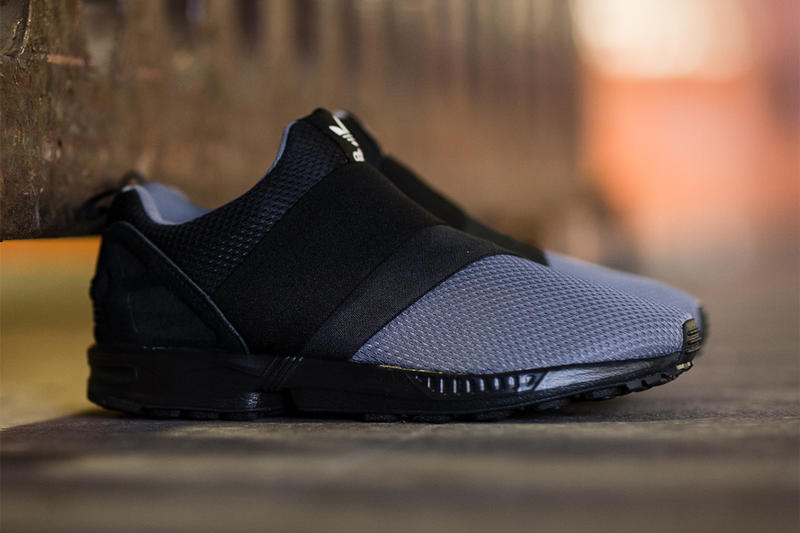 the best attitude 4cfb4 455ed adidas Originals ZX Flux Slip On Granite/Carbon/Core Black ...