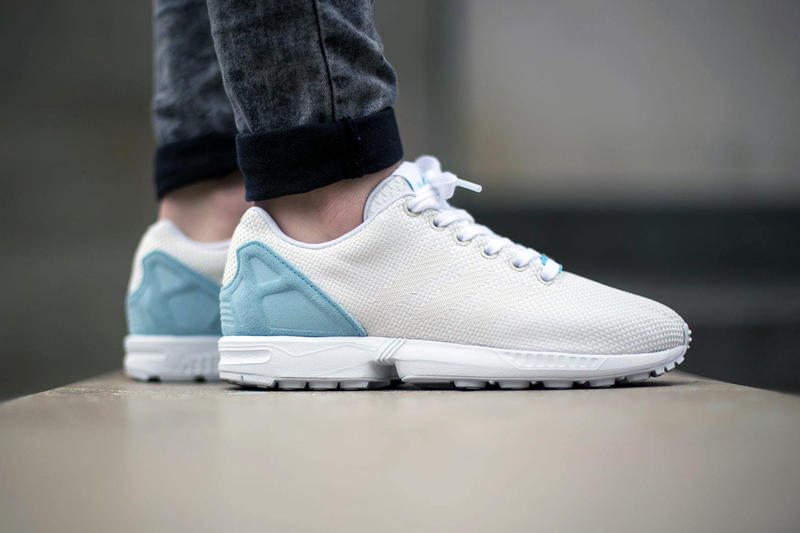 size 40 38f92 565f3 adidas Originals ZX Flux Weave Off White/Blush Blue | HYPEBEAST