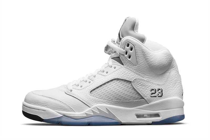 """finest selection d7f0f 4b86d First released in 2000, the Air Jordan 5 Retro """"Metallic Silver"""" is make a  return this spring. The"""