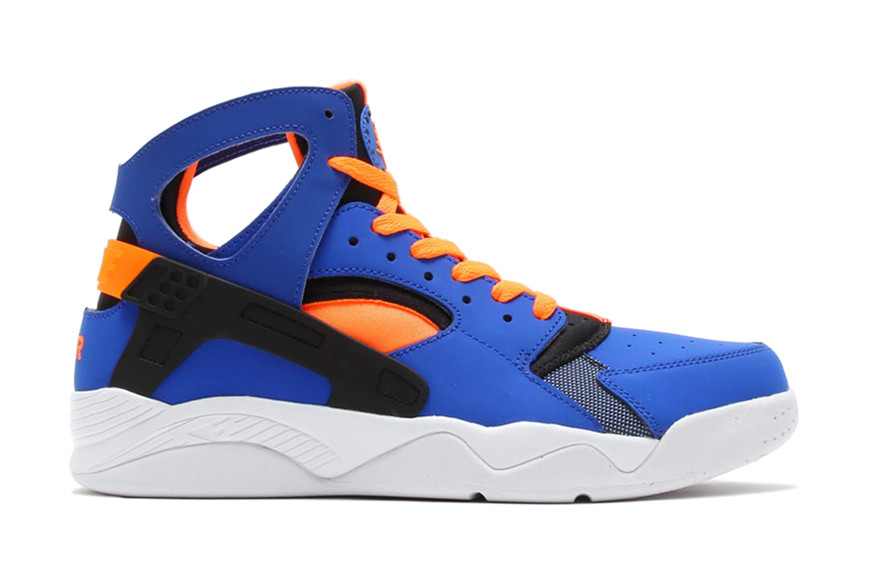 nike huarache high top orange