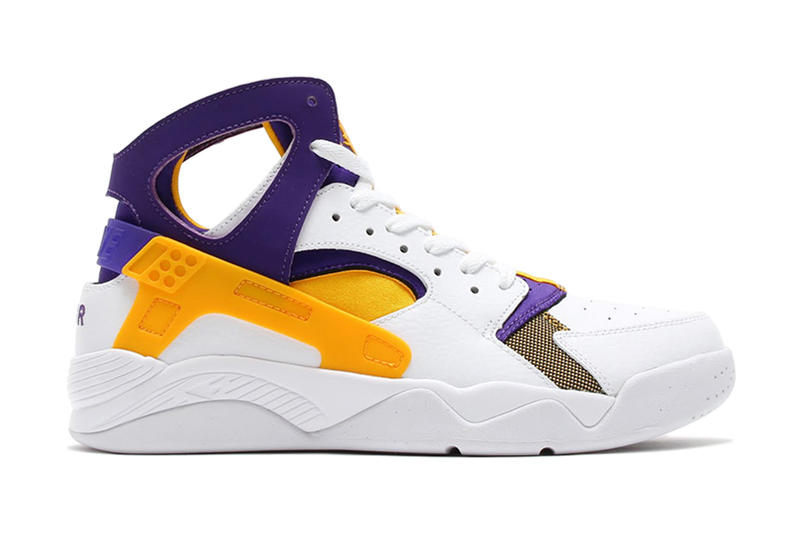 low priced fb129 642ce Nike Air Flight Huarache White/University Gold-Court Purple ...